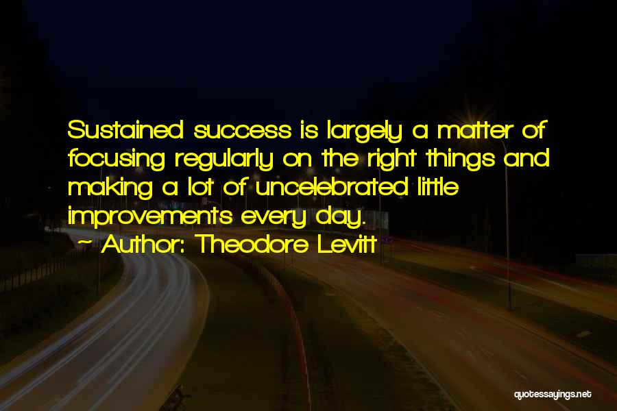 Making Improvements Quotes By Theodore Levitt