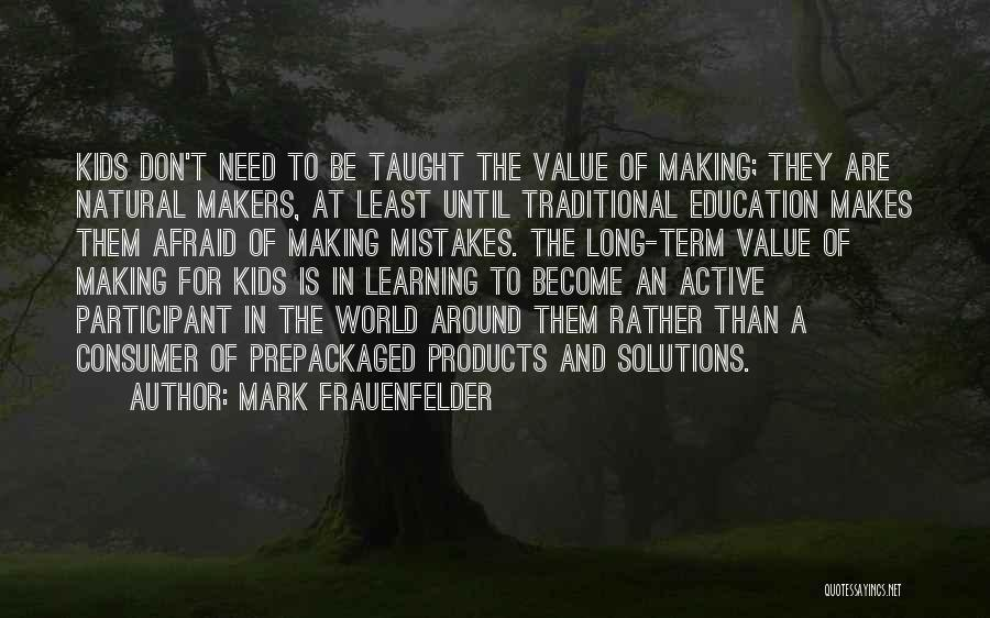 Making Mistakes And Learning From Them Quotes By Mark Frauenfelder
