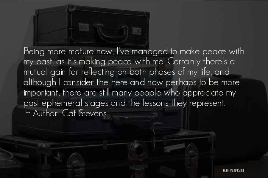 Making Peace With Past Quotes By Cat Stevens