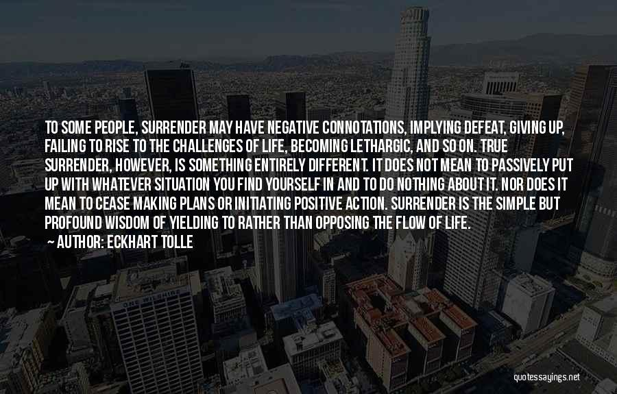 Making Plans In Life Quotes By Eckhart Tolle