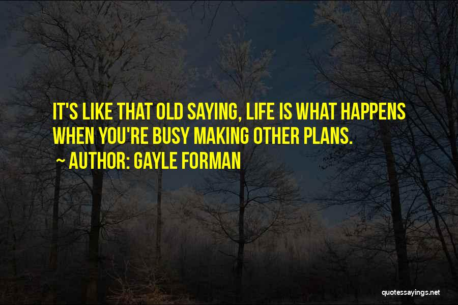 Making Plans In Life Quotes By Gayle Forman