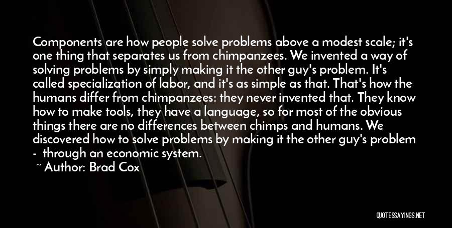 Making Things Simple Quotes By Brad Cox