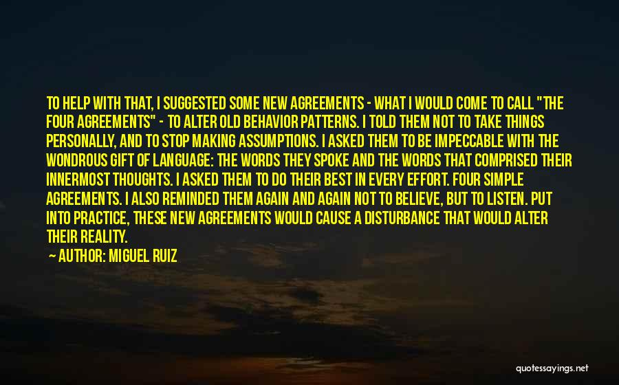 Making Things Simple Quotes By Miguel Ruiz
