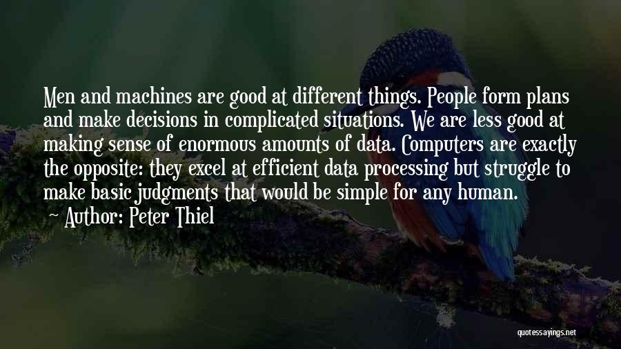 Making Things Simple Quotes By Peter Thiel