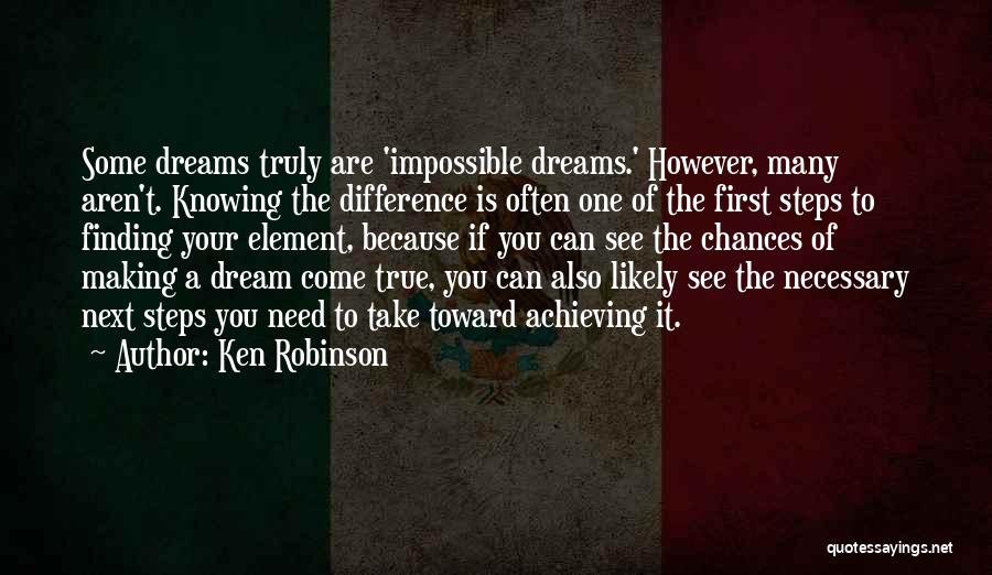 Making Your Dream Come True Quotes By Ken Robinson