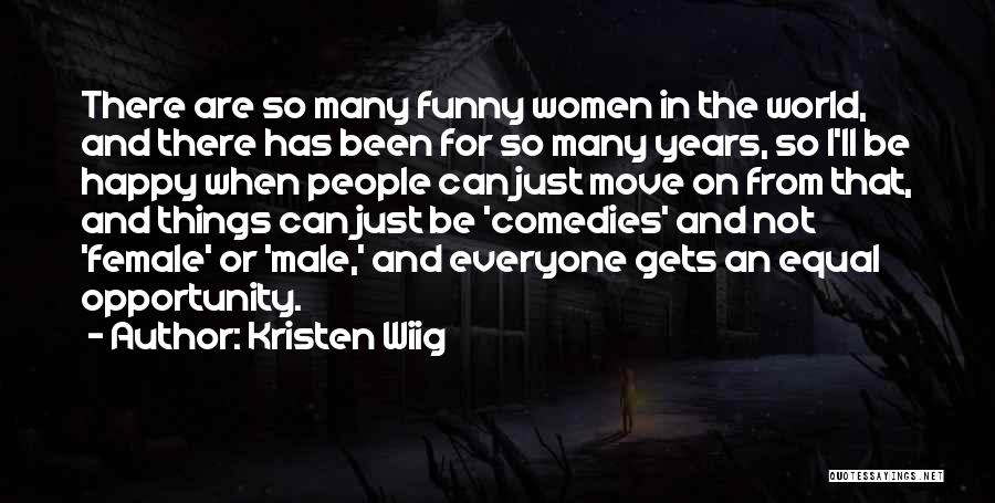 Male Female Funny Quotes By Kristen Wiig