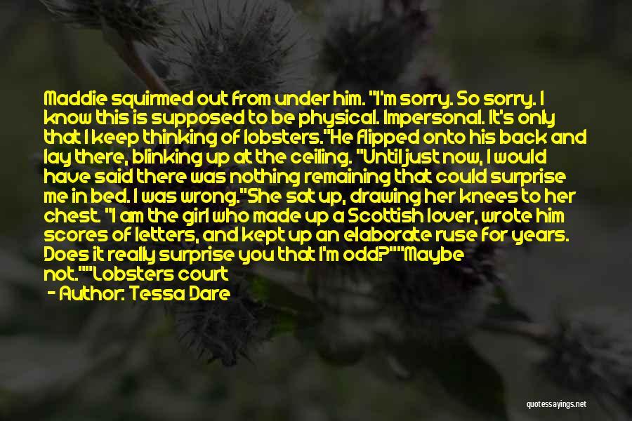 Male Female Funny Quotes By Tessa Dare