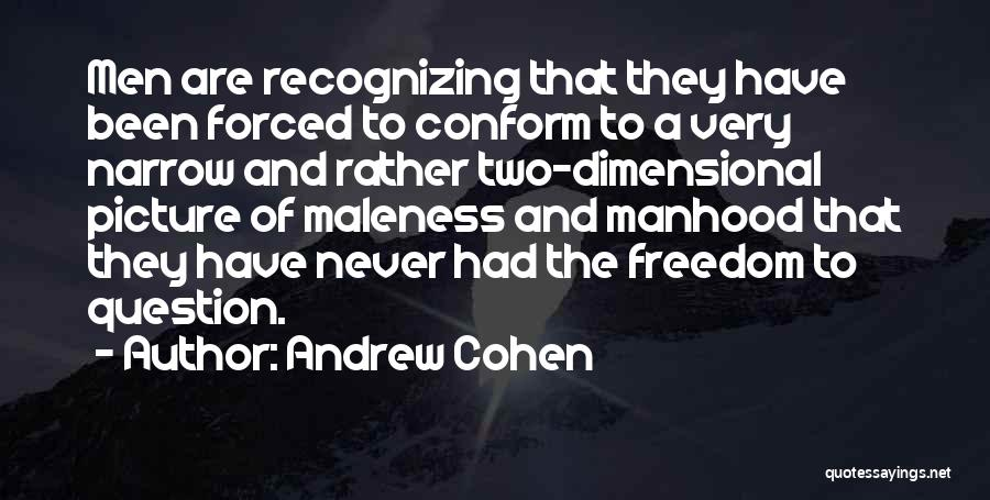 Maleness Quotes By Andrew Cohen