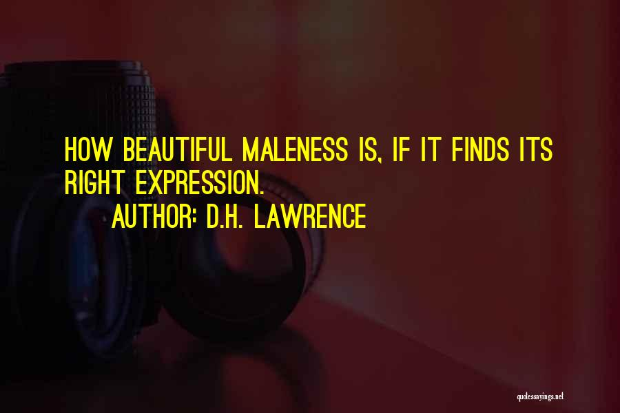 Maleness Quotes By D.H. Lawrence