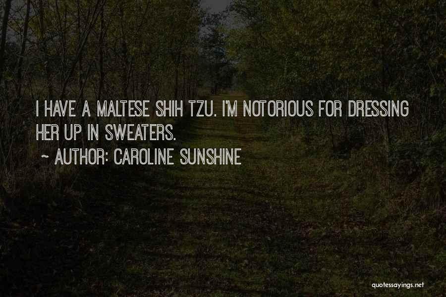 Maltese Quotes By Caroline Sunshine