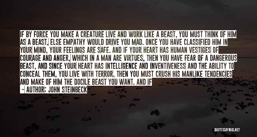 Man And Beast Quotes By John Steinbeck