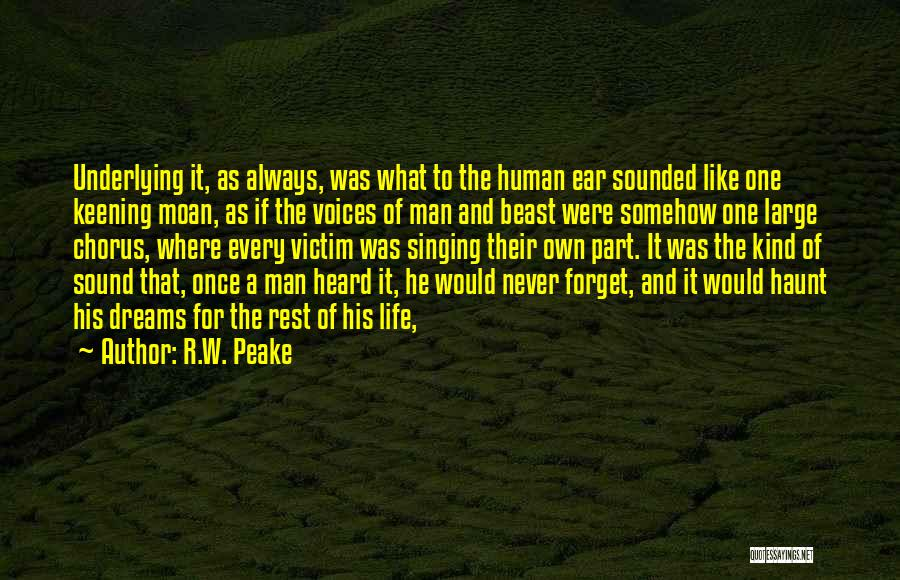 Man And Beast Quotes By R.W. Peake