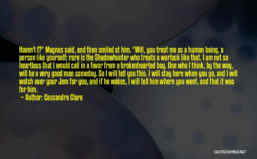 Man And Boy Book Quotes By Cassandra Clare