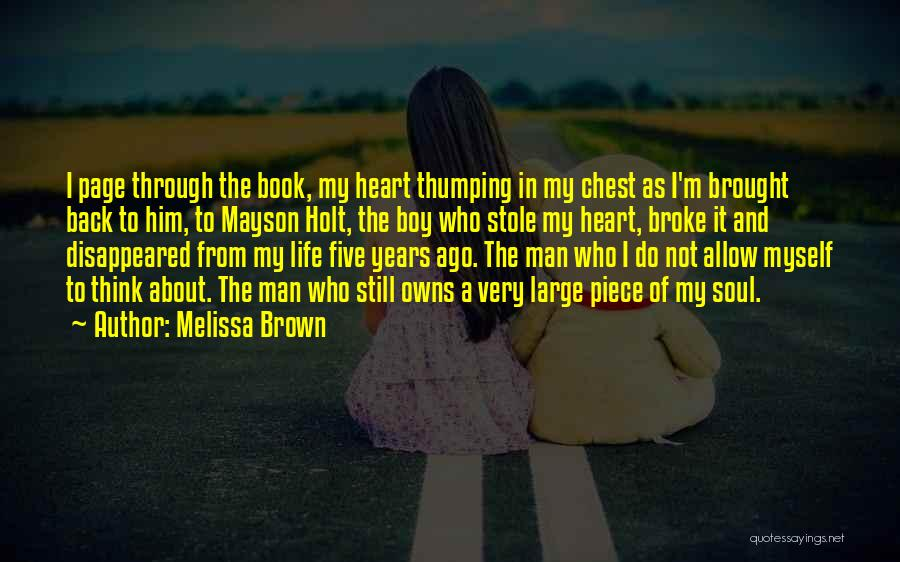 Man And Boy Book Quotes By Melissa Brown