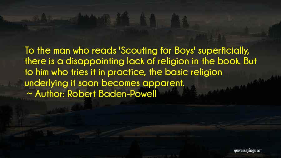 Man And Boy Book Quotes By Robert Baden-Powell