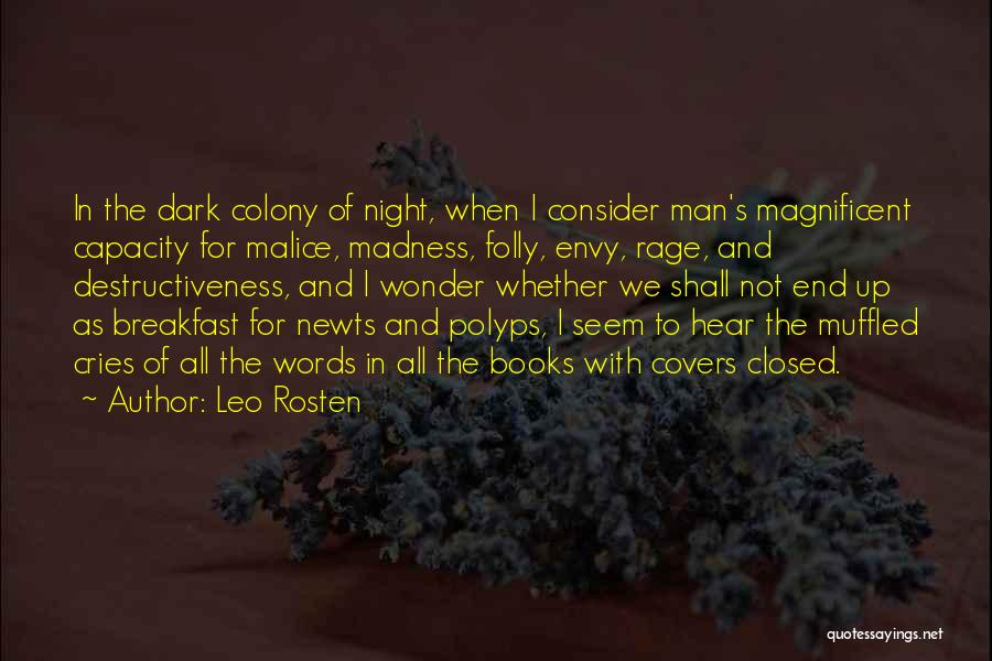 Man Cries Quotes By Leo Rosten