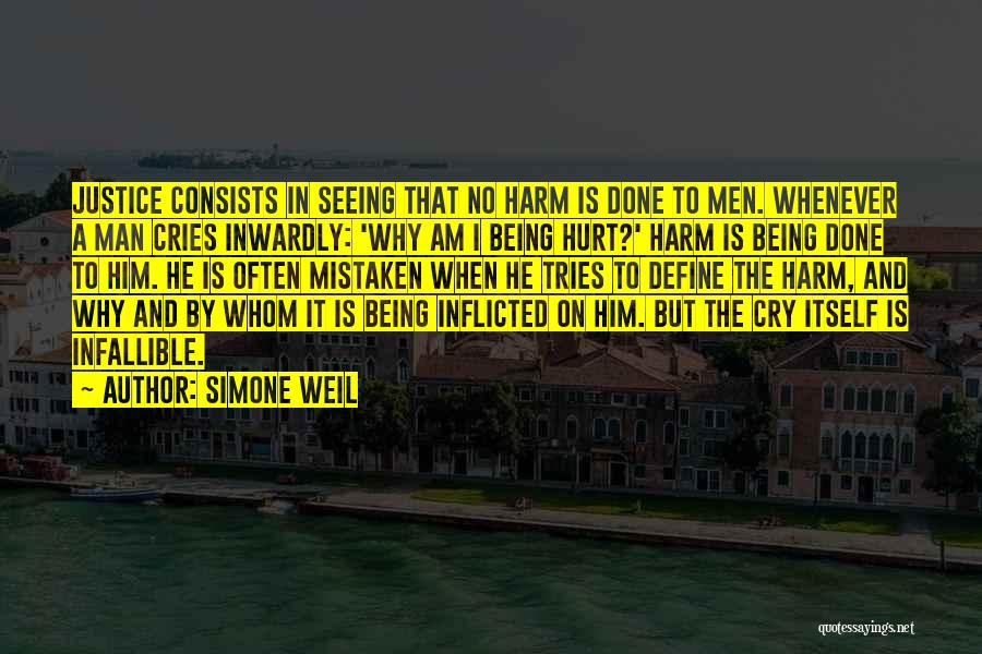 Man Cries Quotes By Simone Weil