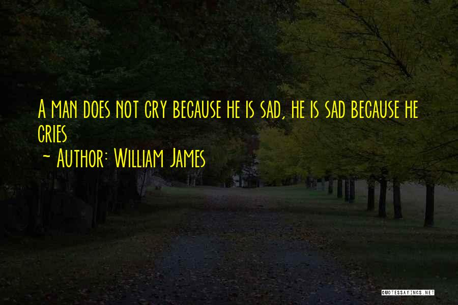 Man Cries Quotes By William James