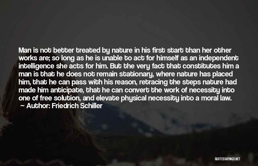 Man Is Free Quotes By Friedrich Schiller