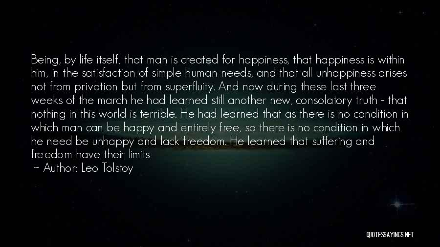Man Is Free Quotes By Leo Tolstoy