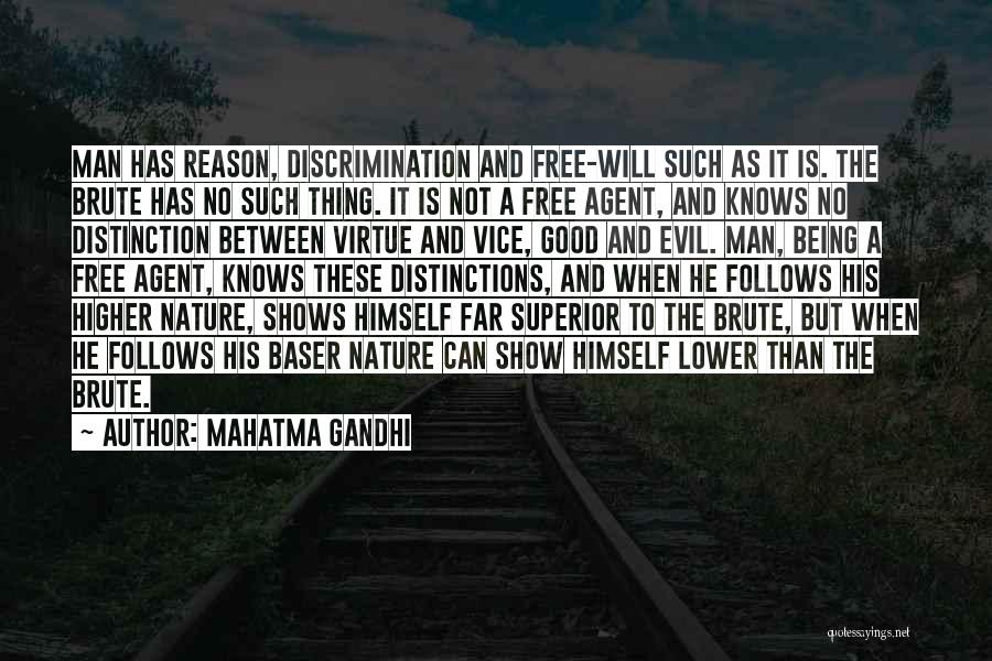 Man Is Free Quotes By Mahatma Gandhi