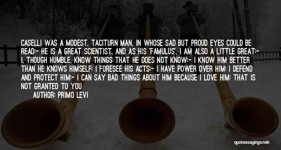 Man Love Quotes By Primo Levi