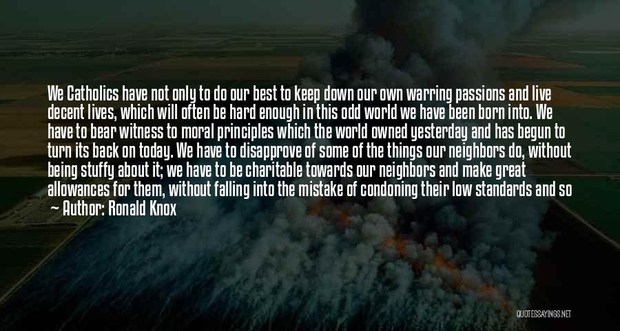 Man Love Quotes By Ronald Knox