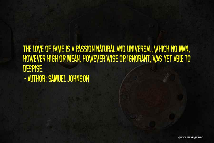 Man Love Quotes By Samuel Johnson