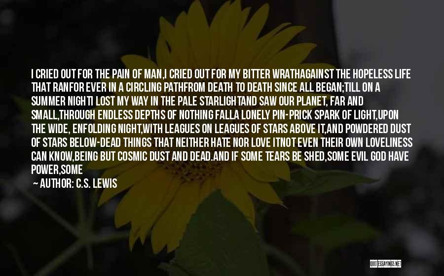 Man Who Cried Quotes By C.S. Lewis