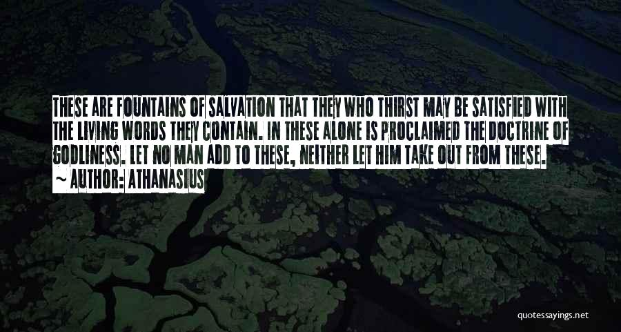 Man With No Words Quotes By Athanasius