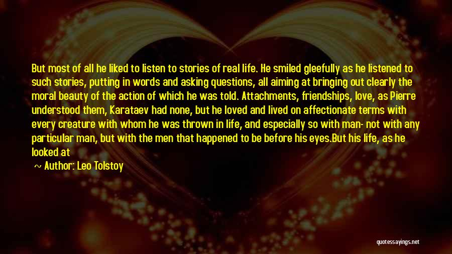 Man With No Words Quotes By Leo Tolstoy