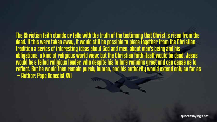 Man With No Words Quotes By Pope Benedict XVI