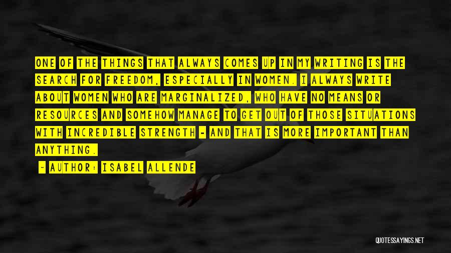 Manage Up Quotes By Isabel Allende