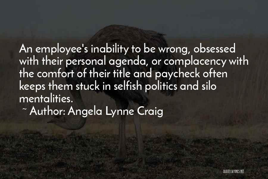 Management Of Resources Quotes By Angela Lynne Craig