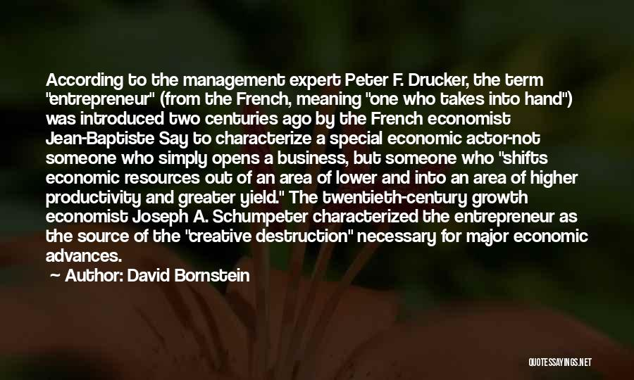 Management Of Resources Quotes By David Bornstein