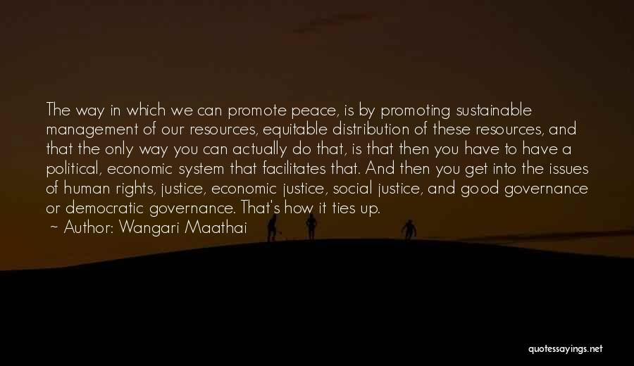 Management Of Resources Quotes By Wangari Maathai