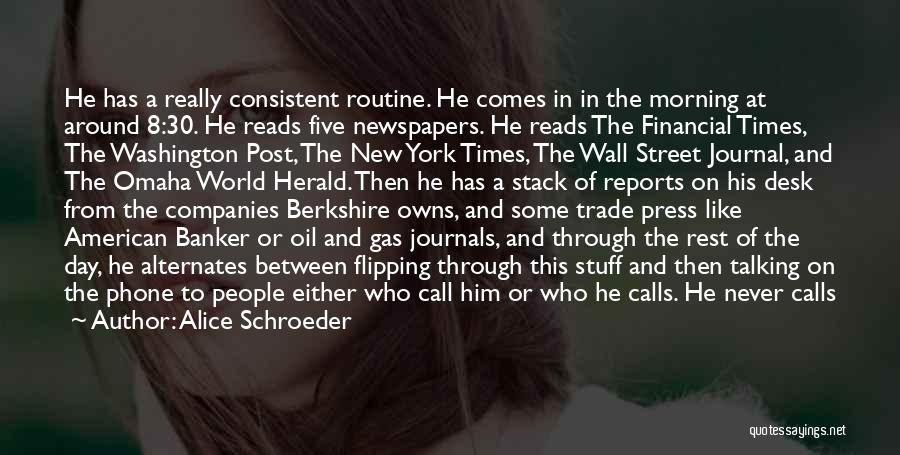 Managers Quotes By Alice Schroeder