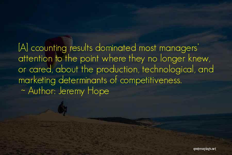 Managers Quotes By Jeremy Hope