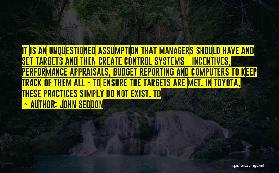 Managers Quotes By John Seddon