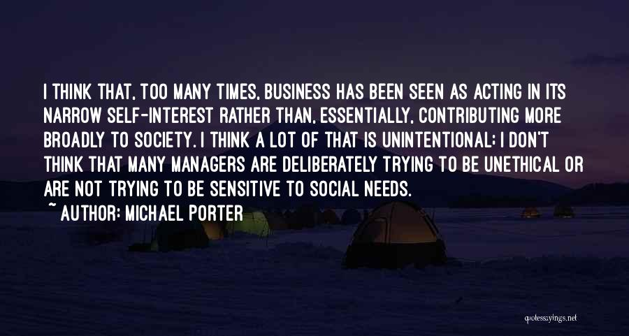 Managers Quotes By Michael Porter