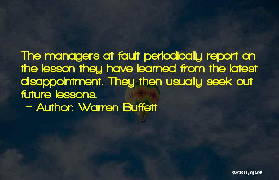 Managers Quotes By Warren Buffett