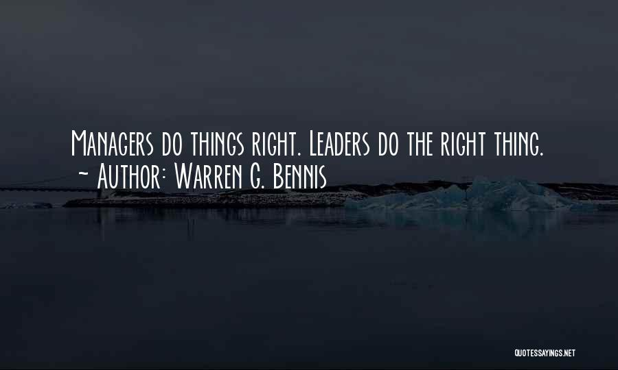 Managers Quotes By Warren G. Bennis