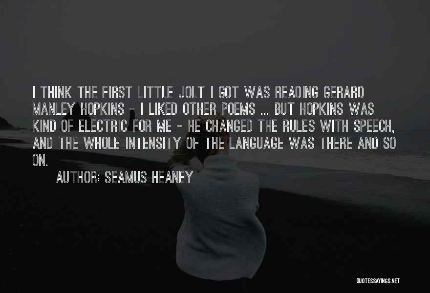Manley Hopkins Quotes By Seamus Heaney