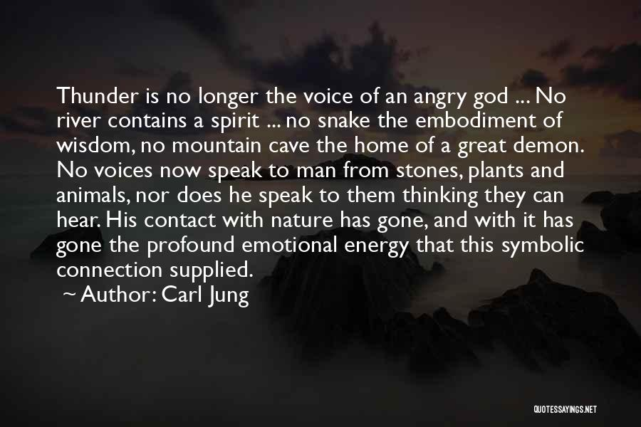 Man's Connection To Nature Quotes By Carl Jung