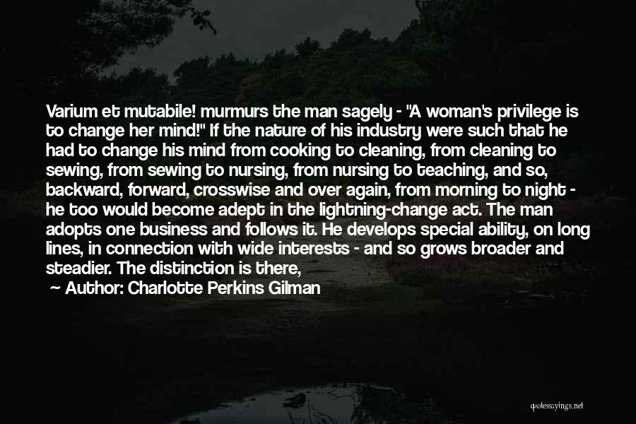 Man's Connection To Nature Quotes By Charlotte Perkins Gilman