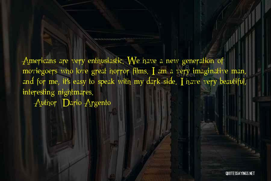 Man's Dark Side Quotes By Dario Argento