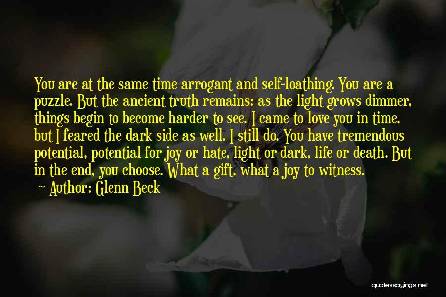 Man's Dark Side Quotes By Glenn Beck