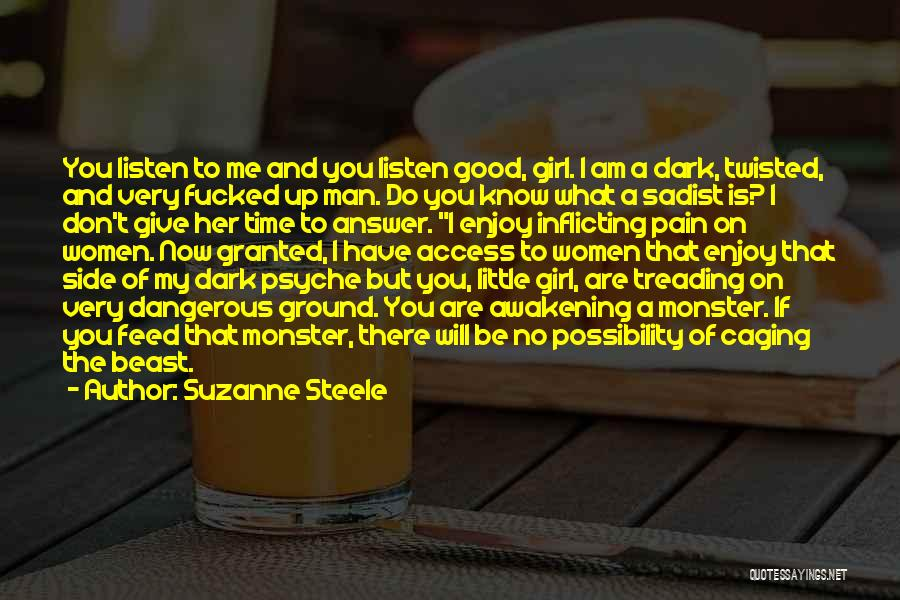 Man's Dark Side Quotes By Suzanne Steele
