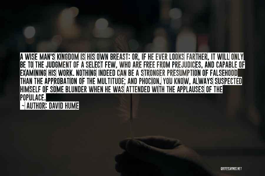Man's Free Will Quotes By David Hume