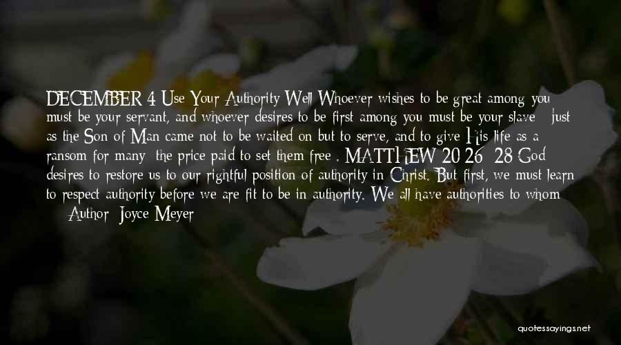 Man's Free Will Quotes By Joyce Meyer